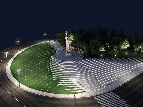Проект благоустройства терриотрии вокруг памятника князю Владимиру