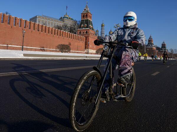 Второй зимний Московский Велопарад