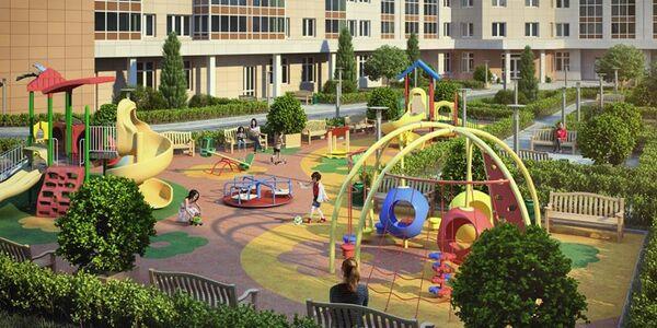 Детская площадка в ЖК Яуза парк