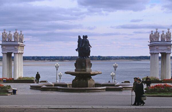 Фонтан Дружба на Центральной набережной Волгограда