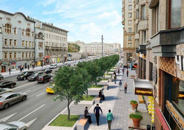 Проект реконструкции Тверской улицы в Москве