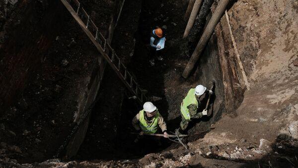 Археологические раскопки в Зарядье