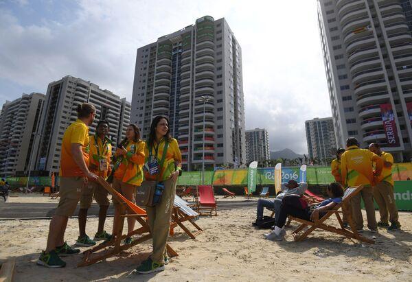 Спортивная делегация в Олимпийской деревне