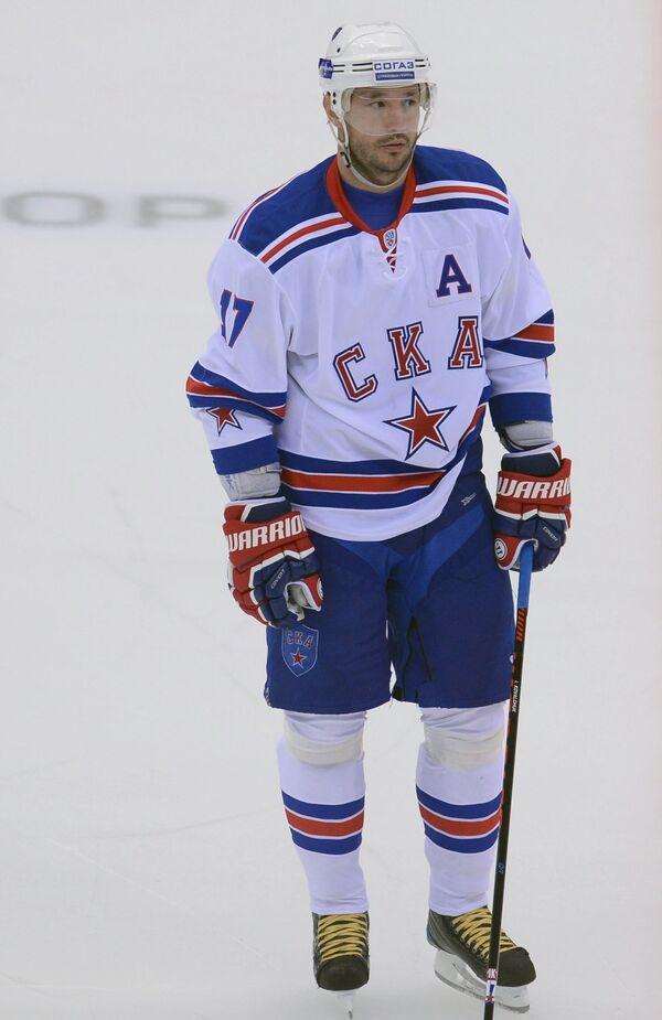 Нападающий ХК СКА Илья Ковальчук