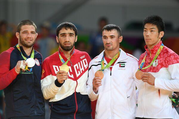 Трэвис Стивенс, Хасан Халмурзаев, Серджио Тому и Таканори Нагасэ (слева направо)