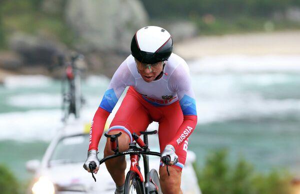 Российская велогонщица Ольга Забелинская