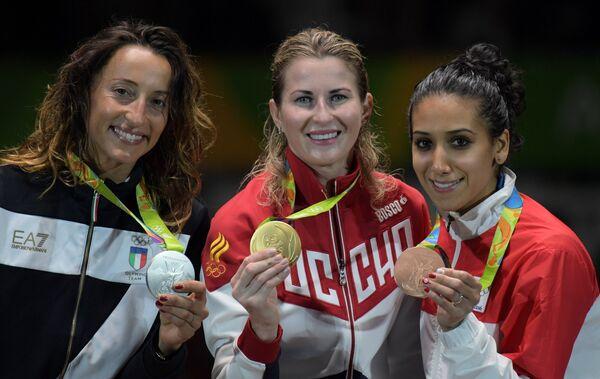 Элиза Ди Франчиска, Инна Дериглазова и Инес Бубакри (слева направо)