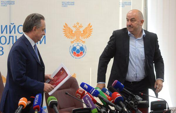 Виталий Мутко (слева) и Станислав Черчесов