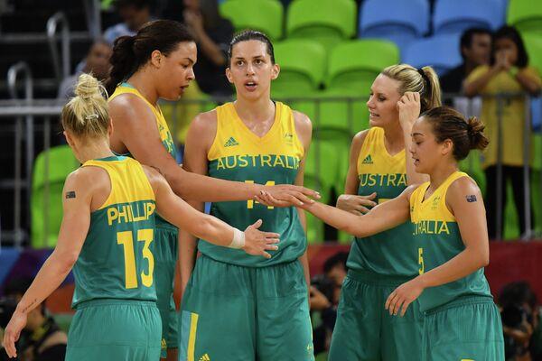 Баскетболистки сборной Австралии