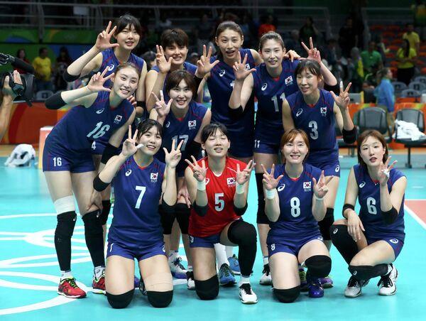 Волейболистки сборной Южной Кореи
