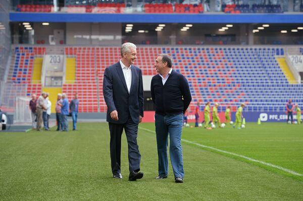 Сергей Собянин и Евгений Гинер (слева направо)