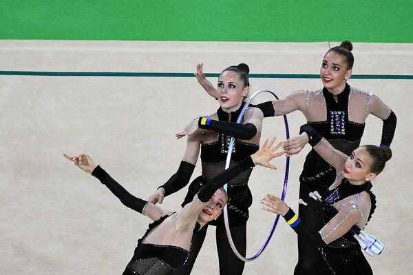Спортсменки сборной Украины по художественной гимнастике
