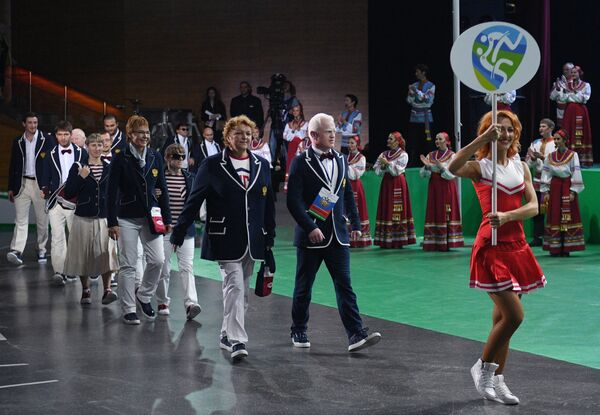 Церемония открытия Всероссийских паралимпийских соревнований