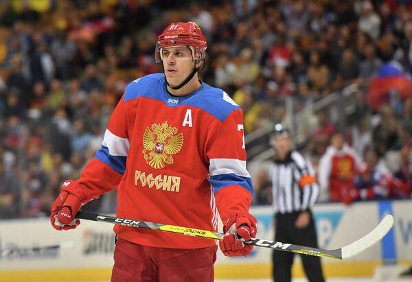 Нападающий сборной России Евгений Малкин