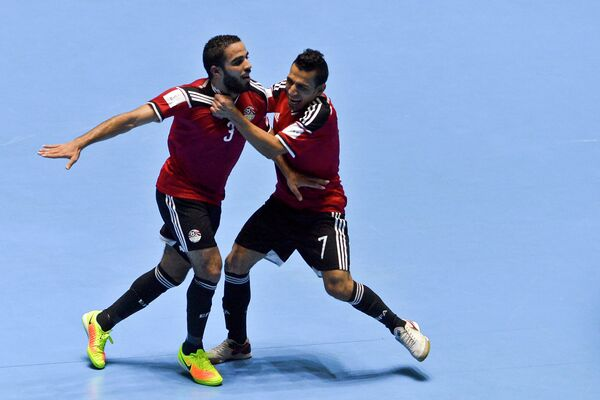 Игроки сборной Египта по мини-футболу