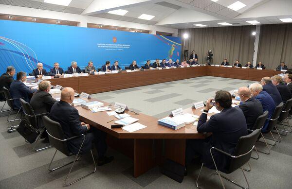 Владимир Путин проводит в Коврове заседание Совета при президенте РФ по развитию физической культуры и спорта
