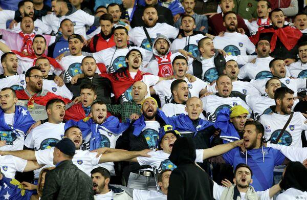 Фанаты сборной Косово