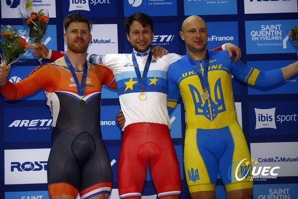 Рой ван ден Берг, Павел Якушевский и Андрей Винокуров (слева направо)