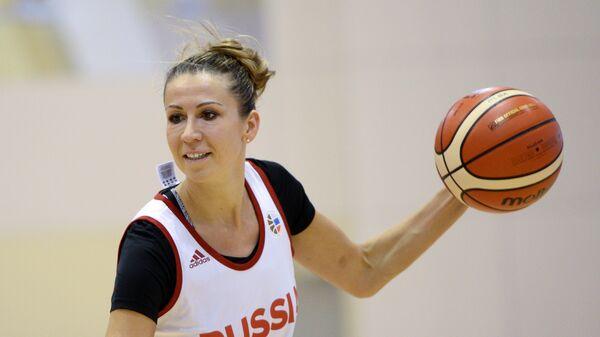 Форвард женской сборной России по баскетболу Евгения Белякова