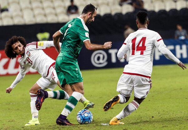 Игровой момент матча ОАЭ - Ирак