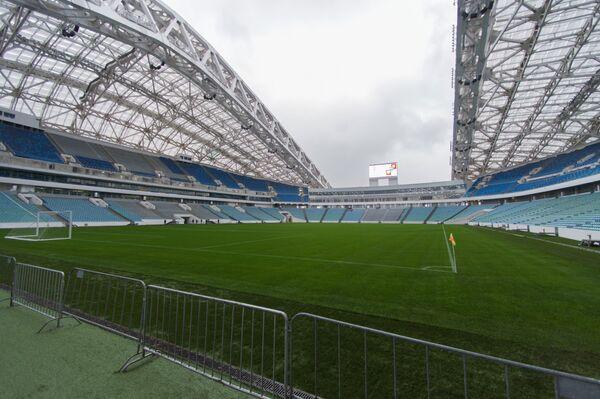 Стадион Фишт на котором будут проходить турниры Кубок конфедераций-2017 и чемпионат мира-2018 по футболу