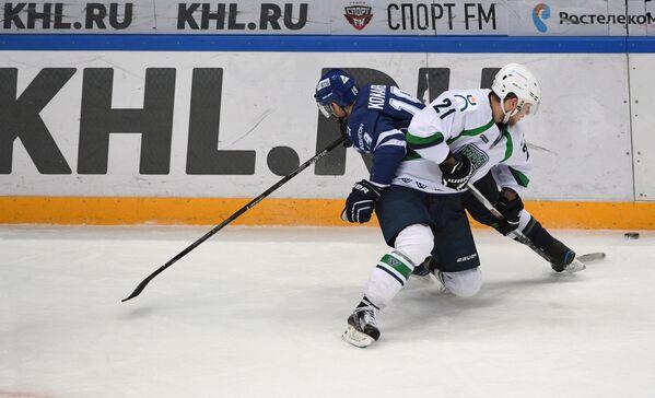 Игровой момент матча Динамо (Москва) - Югра