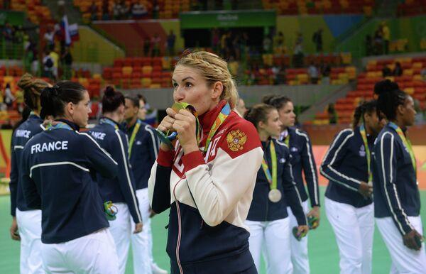 Игрок сборной России Владлена Бобровникова