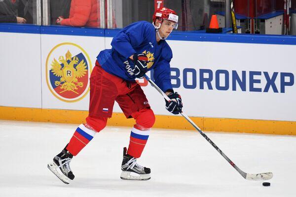 Нападающий сборной России Максим Шалунов