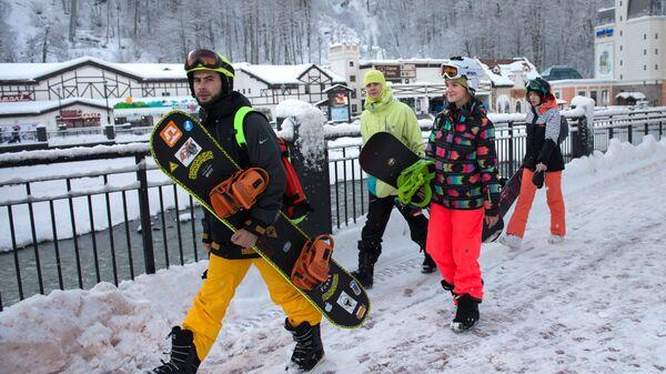 Зимний сезон на горнолыжном курорте Роза Хутор в Сочи