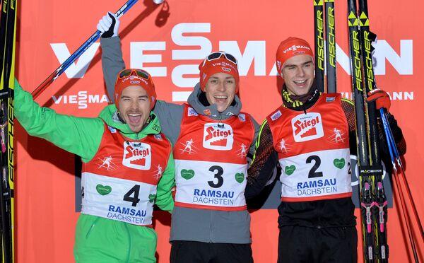 Немцы Фабиан Риссле, Эрик Френцель и Винценц Гейгер (слева направо)