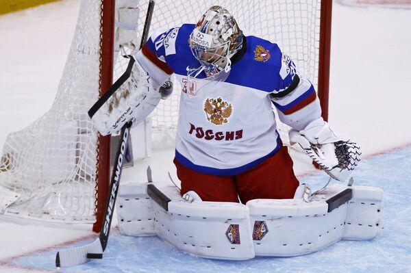 Вратарь сборной России Илья Самсонов