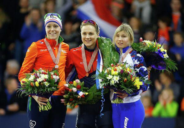 Каролина Эрбанова, Йорин Тер Морс и Ольга Фаткулина (слева направо)