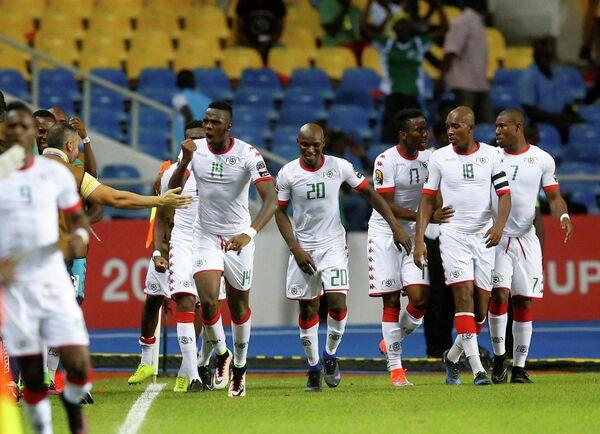 Футболисты сборной Буркина-Фасо
