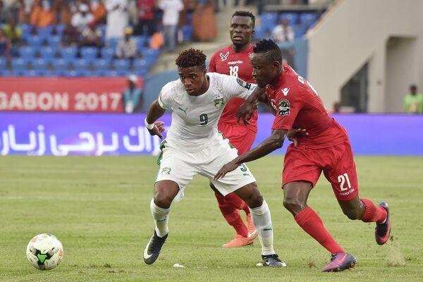 Игровой момент матча Кубка африканских наций между сборными Кот-д'Ивуара и Того