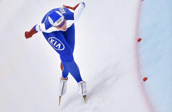 Российская конькобежка Александра Качуркина