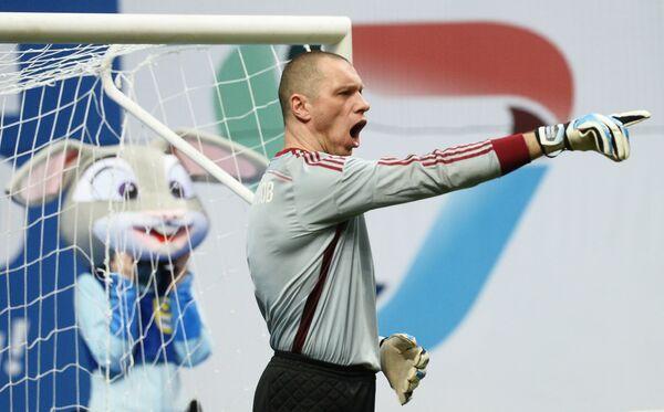 Вратарь сборной России Александр Филимонов