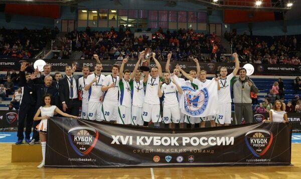 Баскетболисты Новосибирска после победы в финале Кубка России-2016/17