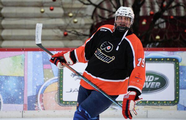 Игрок сборной команды России Алексей Яшин