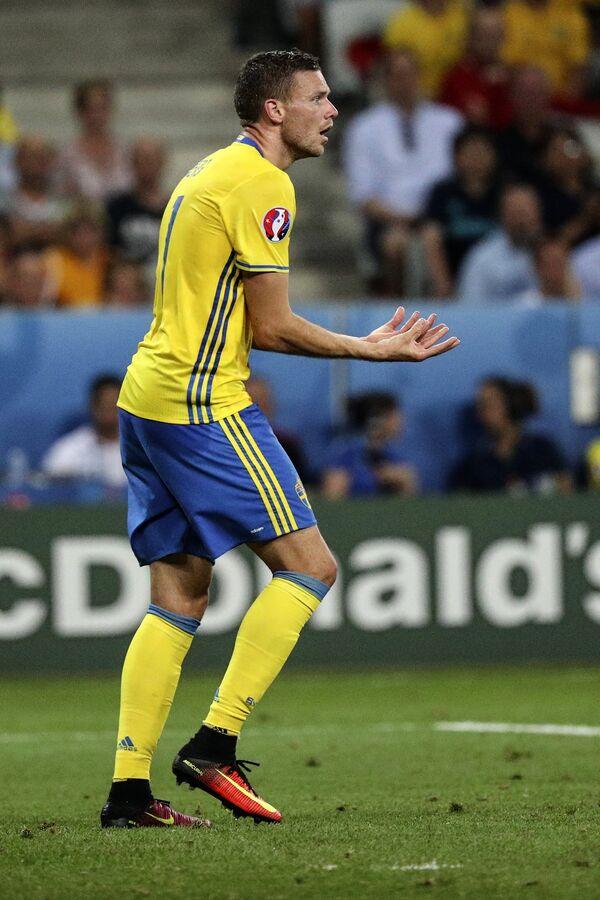 Форвард сборной Швеции Маркус Берг
