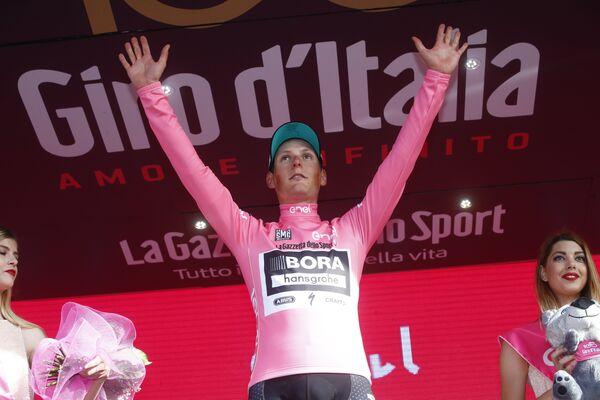 Австрийский велогонщик Лукас Пёстлбергер из команды Bora - Hansgrohe