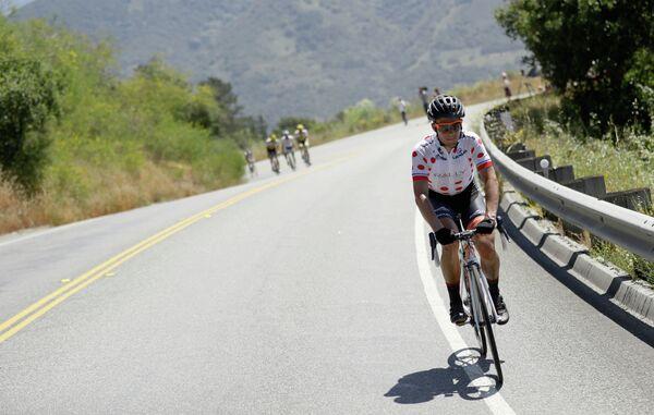 Американский велогонщик Эван Хаффман