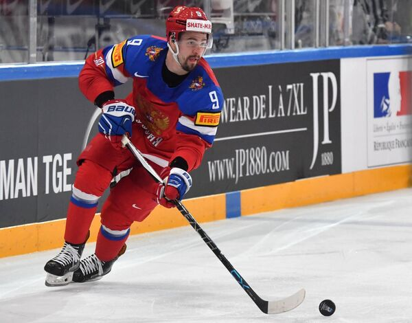 Защитник сборной России Виктор Антипин