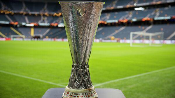 Главный трофей Лиги Европы на стадионе в Стокгольме