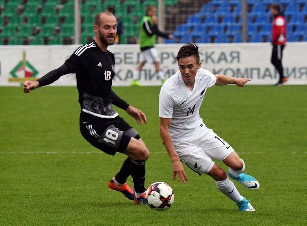 Игровой момент матча Белоруссия - Новая Зеландия