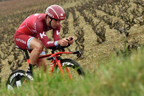 Бельгийский велогонщик Katusha-Alpecin Баптисте Планкарт