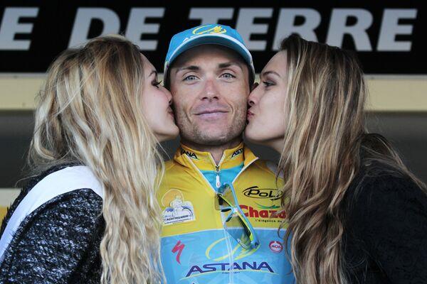 Украинский велогонщик команды Астана Андрей Гривко