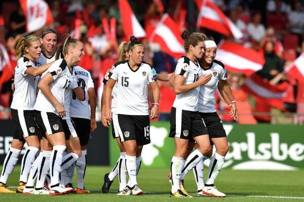 Футболистки сборной Австрии