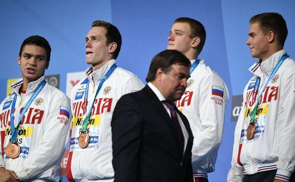 Евгений Рылов, Кирилл Пригода, Александр Попков, Владимир Морозов (слева направо)