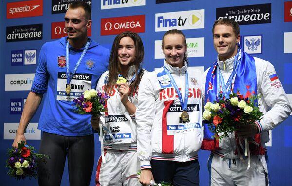 Сергей Фесиков, Вероника Попова, Розалия Насретдинова и Владимир Морозов (слева направо)