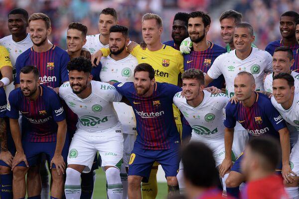 Футболисты Барселоны и Шапекоэнсе